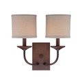 Millennium Lighting 3112-RBZ Jackson Wall Sconce in Rubbed Bronze with Beige Shade