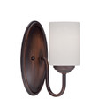 Millennium Lighting 3071-RBZ Lansing Etched White Wall Sconce in Rubbed Bronze