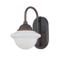 Millennium Lighting 5371-RBZ Neo-Industrial Opal White Schoolhouse Wall Sconce in Rubbed Bronze
