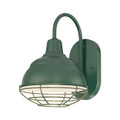 Millennium Lighting RWHWB8-SG R Series Wall Sconce in Satin Green