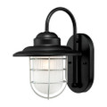 Millennium Lighting 5390-SB R Series Inside Etched Wall Sconce in Satin Black