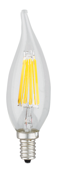 Kodak 55003-UL 6W Candle Flame Tip Collection CRI82 Very Warm White Lightbulbs (Set of 6)