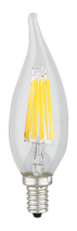 Kodak 55003-UL 6W Candle Flame Tip Collection CRI82 Very Warm White Lightbulbs