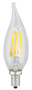 Kodak 41117 4W Candle Flame Tip Lightbulbs (Set of 6)
