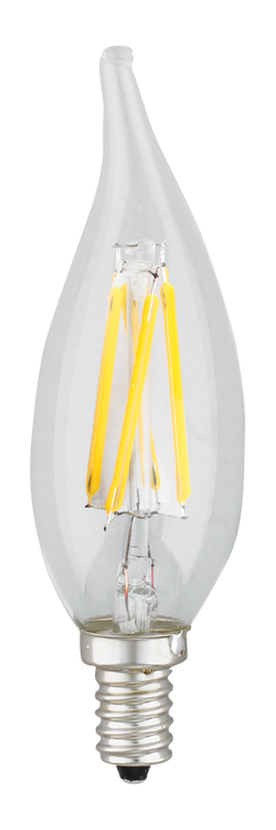 Kodak 41168-UL 4W Flame Tip CRI 92 2200K Very Warm White Lightbulbs (Set of 6)