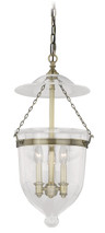 "Vaxcel P0131 630 Series 12-3/4"" Pendant in Antique Brass with Clear Glass"