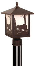 "Vaxcel OP35085BBZ Bozeman 8"" Outdoor Post Light"