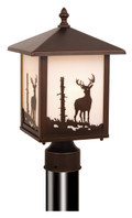 "Vaxcel OP33585BBZ Bryce 8"" Outdoor Post Light"