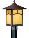 "Vaxcel TL-OPU090EB Mission II 9"" Outdoor Post Light"