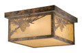 Vaxcel OF50511OA Whitebark Outdoor Ceiling Light