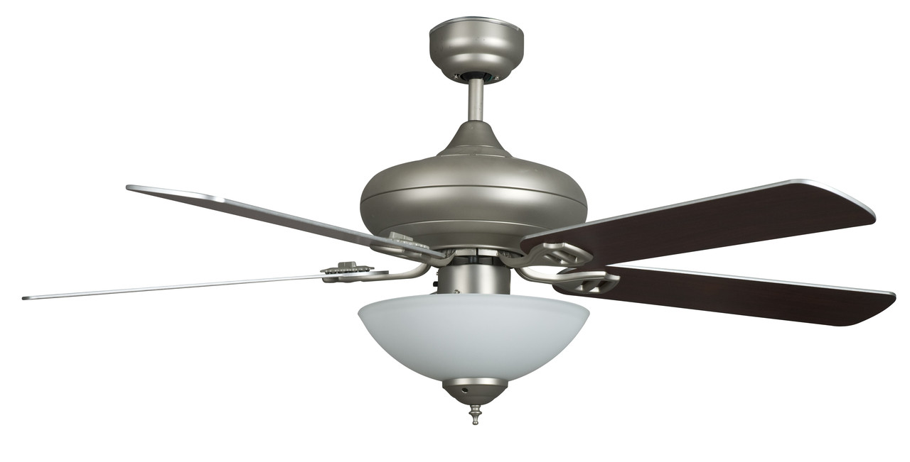 """Sea Gull Lighting Windgate 9 In W 3 Light Brushed Nickel: Concord Fans 52VALQC5ESN 52"""" Valore Quick Connect Ceiling"""