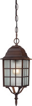 "NUVO Lighting 60/4912 Adams 1 Light 16"" Outdoor Hanging with Frosted Glass"