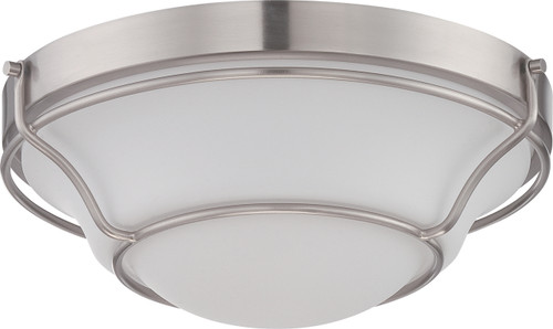 NUVO Lighting 62/527 Baker LED Flushmount Fixture with Satin White Glass