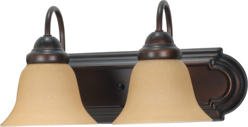 """NUVO Lighting 60/1264 Ballerina 2 Light 18"""" Vanity with Champagne Linen Washed Glass"""