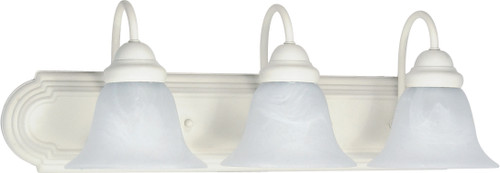 """NUVO Lighting 60/333 Ballerina 3 Light 24"""" Vanity with Alabaster Glass Bell Shades"""