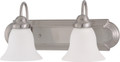 "NUVO Lighting 60/3322 Ballerina ES 2 Light 18"" Vanity with Frosted White Glass (2) 13W GU24 (Bulbs Included)"