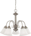"NUVO Lighting 60/3240 Ballerina 5 Light 24"" Chandelier with Frosted White Glass"