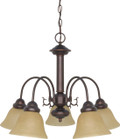 "NUVO Lighting 60/1251 Ballerina 5 Light 24"" Chandelier with Champagne Linen Washed Glass"