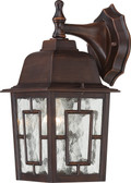"NUVO Lighting 60/4922 Banyan 1 Light 12"" Outdoor Wall with Clear Water Glass"