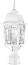"NUVO Lighting 60/4927 Banyan 1 Light 17"" Outdoor Post with Clear Water Glass"