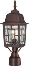 "NUVO Lighting 60/4928 Banyan 1 Light 17"" Outdoor Post with Clear Water Glass"