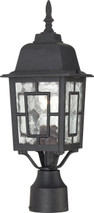 "NUVO Lighting 60/4929 Banyan 1 Light 17"" Outdoor Post with Clear Water Glass"