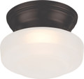NUVO Lighting 62/701 Bogie LED Flushmount Fixture with Frosted Glass