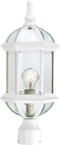 "NUVO Lighting 60/4974 Boxwood 1 Light 19"" Outdoor Post with Clear Beveled Glass"