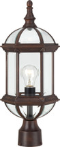 "NUVO Lighting 60/4975 Boxwood 1 Light 19"" Outdoor Post with Clear Beveled Glass"