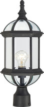 "NUVO Lighting 60/4976 Boxwood 1 Light 19"" Outdoor Post with Clear Beveled Glass"