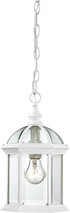 "NUVO Lighting 60/4977 Boxwood 1 Light 14"" Outdoor Hanging with Clear Beveled Glass"