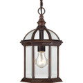 "NUVO Lighting 60/4978 Boxwood 1 Light 14"" Outdoor Hanging with Clear Beveled Glass"