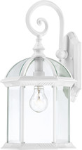 """NUVO Lighting 60/4964 Boxwood 1 Light 19"""" Outdoor Wall with Clear Beveled Glass"""