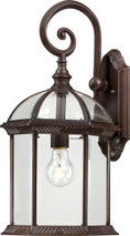"""NUVO Lighting 60/4965 Boxwood 1 Light 19"""" Outdoor Wall with Clear Beveled Glass"""