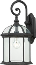 """NUVO Lighting 60/4966 Boxwood 1 Light 19"""" Outdoor Wall with Clear Beveled Glass"""