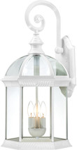 """NUVO Lighting 60/4967 Boxwood 3 Light 26"""" Outdoor Wall with Clear Beveled Glass"""