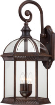 """NUVO Lighting 60/4968 Boxwood 3 Light 26"""" Outdoor Wall with Clear Beveled Glass"""