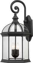"""NUVO Lighting 60/4969 Boxwood 3 Light 26"""" Outdoor Wall with Clear Beveled Glass"""