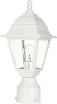 "NUVO Lighting 60/546 Briton 1 Light 14"" Post Lantern with Clear Glass"