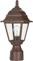 "NUVO Lighting 60/547 Briton 1 Light 14"" Post Lantern with Clear Glass"