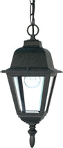 "NUVO Lighting 60/489 Briton 1 Light 10"" Hanging Lantern with Clear Glass"