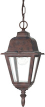 "NUVO Lighting 60/488 Briton 1 Light 10"" Hanging Lantern with Clear Glass"