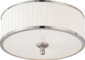 NUVO Lighting 60/4741 Candice 3 Light Flushmount Dome Fixture with Pleated White Shade