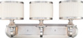 NUVO Lighting 60/4733 Candice 3 Light Vanity Fixture with Pleated White Shades