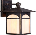 """NUVO Lighting 60/5651 Canyon 1 Light 7"""" Outdoor Wall Fixture with Honey Stained Glass"""