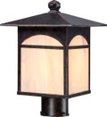 NUVO Lighting 60/5655 Canyon 1 Light Outdoor Post Fixture with Honey Stained Glass