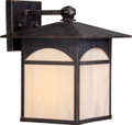 """NUVO Lighting 60/5652 Canyon 1 Light 9"""" Outdoor Wall Fixture with Honey Stained Glass"""