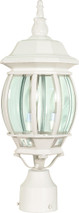 "NUVO Lighting 60/897 Central Park 3 Light 21"" Post Lantern with Clear Beveled Glass"
