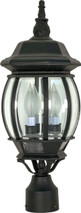 "NUVO Lighting 60/899 Central Park 3 Light 21"" Post Lantern with Clear Beveled Glass"