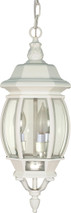 "NUVO Lighting 60/894 Central Park 3 Light 20"" Hanging Lantern with Clear Beveled Glass"